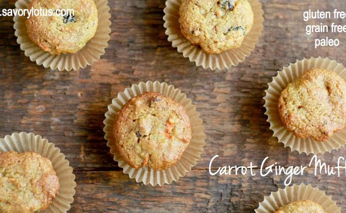 Carrot Muffins, grain free, gluten free