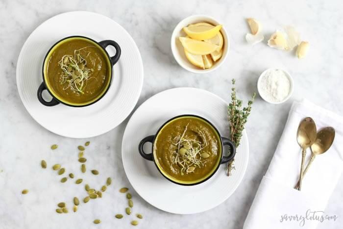 The Ultimate Green Soup   www.savorylotus.com (1) 2