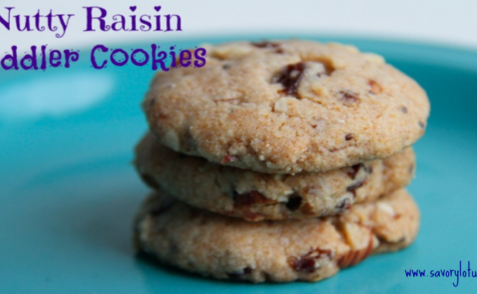 Nutty Raisin Toddler Cookies savorylotus.com