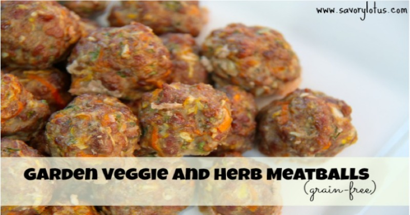 Garden Veggie and Herb Meatballs savorylotus.com