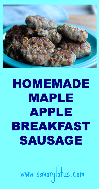 plate of breakfast sausage