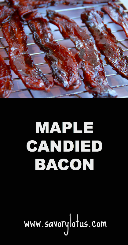 Maple Candied Bacon - savorylotus.com