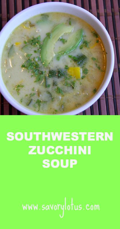 Southwestern Zucchini Soup - savorylotus.com