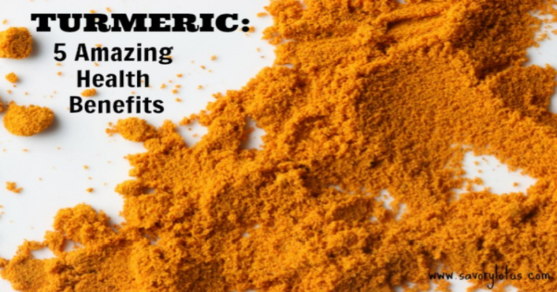 Turmeric 5 Amazing Health Benefits savorylotus.com