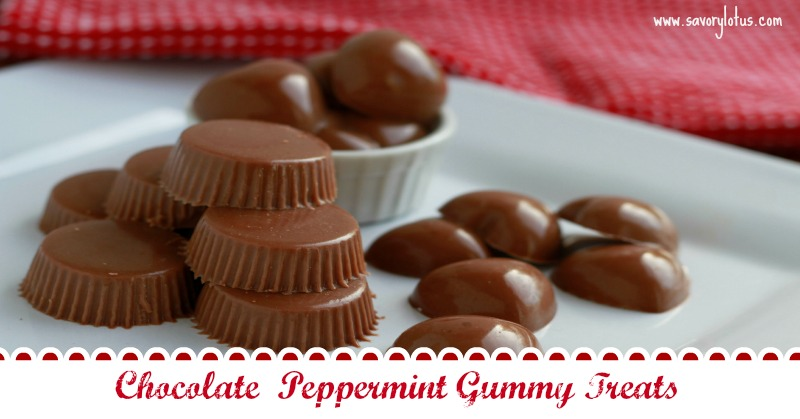 Chocolate Peppermint Gummy Treats savorylotus.com
