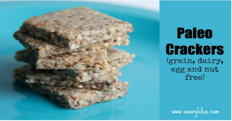 Paleo Crackers (grain, dairy, and nut free) savorylotus.com