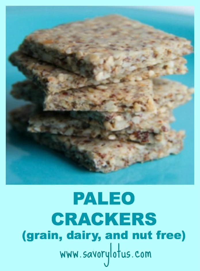 Paleo Crackers (nut free) ~ savorylotus.com