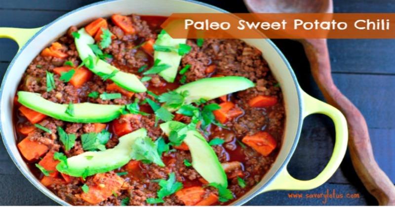 Paleo Sweet Potato Chili savorylotus.com