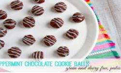 Peppermint Chocolate Cookie Balls savorylotus.com