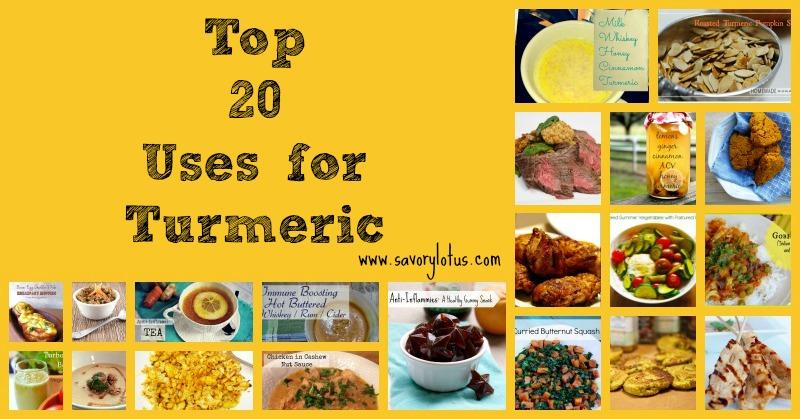 Top 20 Uses for Turmeric savorylotus.com