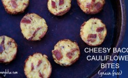 Cheesy Bacon Cauliflower Bites --- savorylotus