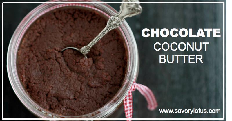 Chocolate Coconut Butter : savorylotus.com