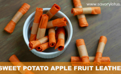 Spiced Sweet Potato Apple Fruit Leather savorylotus