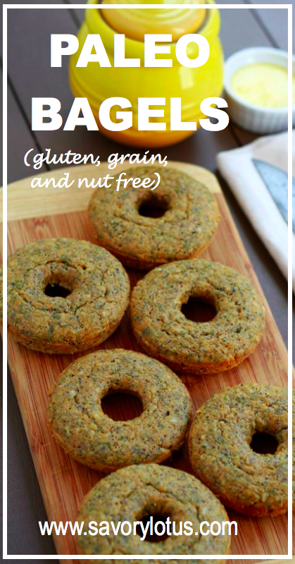 Paleo Bagels (gluten, grain, and nut free) - savorylotus.com