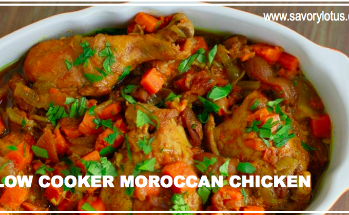 Slow Cooker Moroccan Chicken | savorylotus.com