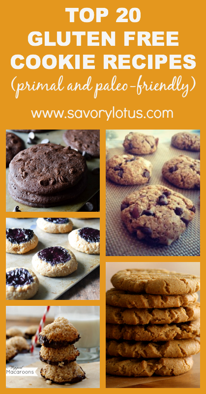 Top 20 Gluten Free Cookies (primal and paleo-friendly) - savorylotus.com
