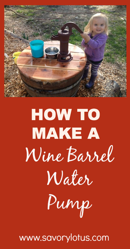 How to Make a Wine Barrel Water Pump - savorylotus.com