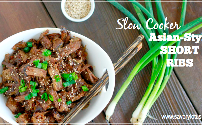 Slow Cooker Asian-Style Short Ribs (soy free) | savorylotus.com