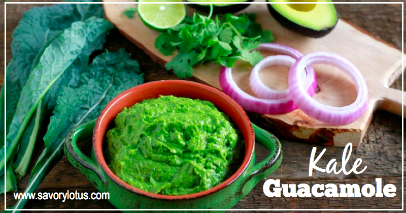 Kale Guacamole | savorylotus.com