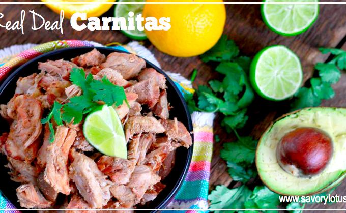 Real Deal Carnitas | savorylotus.com