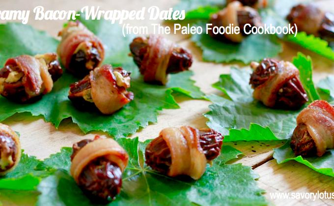 Creamy Bacon-Wrapped Dates (dairy free/paleo) | savorylotus.com