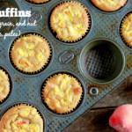 Peach Muffins (gluten, grain, and nut free, paleo) | savorylotus.com