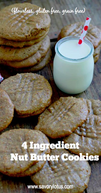 flourless nut butter cookies, gluten free