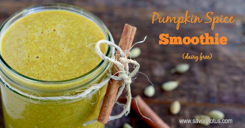 pumpkin smoothie, dairy free, pumpkin