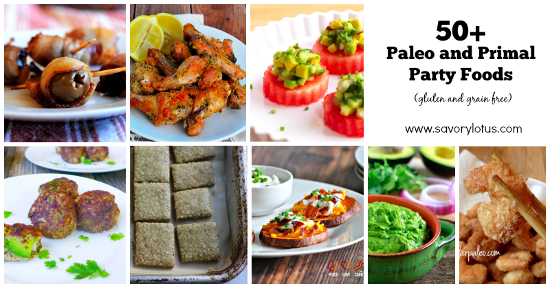 gluten free party foods, grain free, paleo