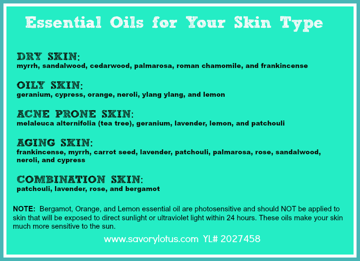 essential oils for skin type