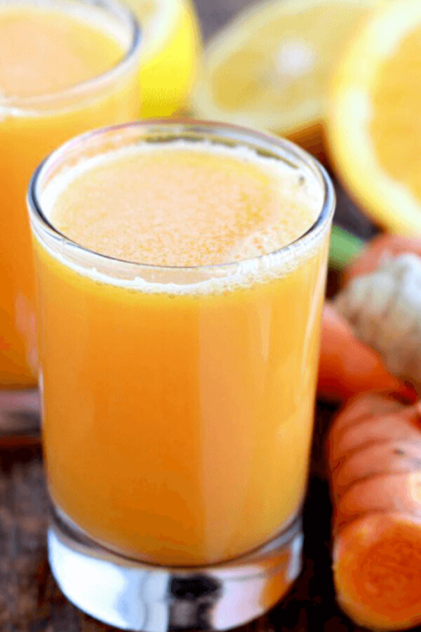 close up of a glass fresh juice in ti