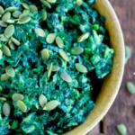 massaged kale salad, avocado