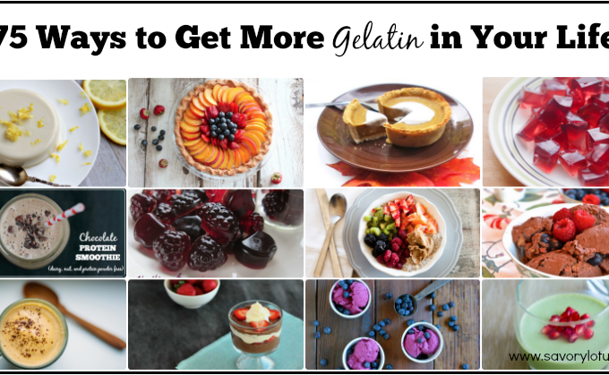 gealtin, health benefits of gelatin, gelatin recipes