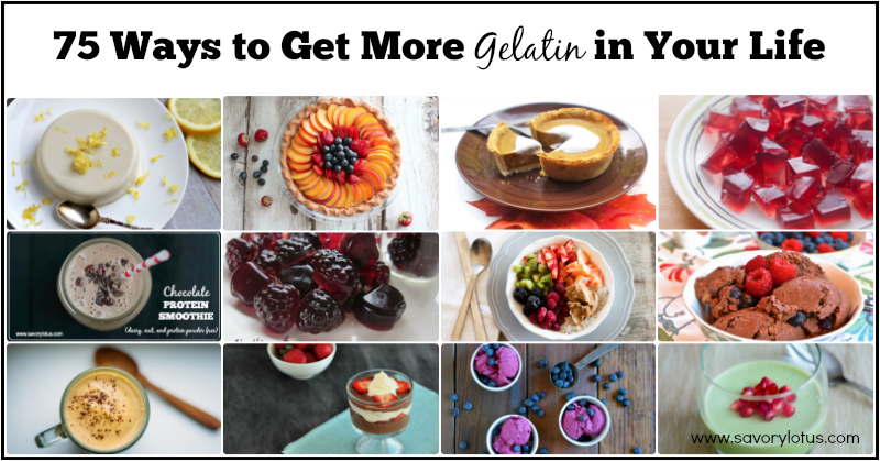 gelatin, health benefits of gelatin, gelatin recipes