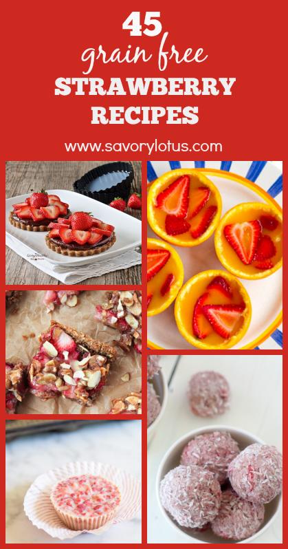 strawberry recipes, gluten free, grain free, paleo