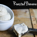 dairy free ice cream, paleo, roasted banana
