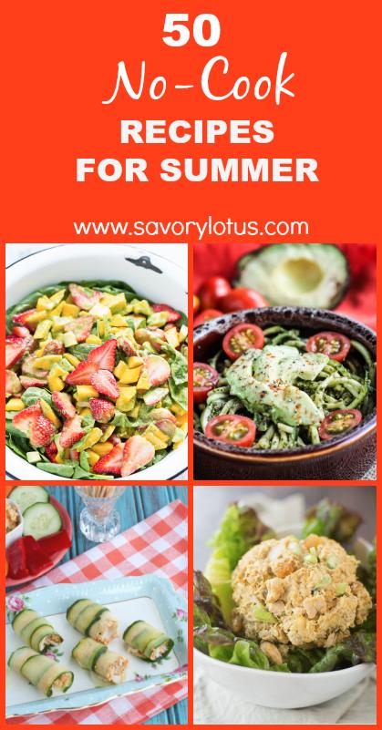 no-cook recipes, paleo, gluten free, summer