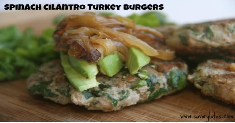 Spinach-Cilantro-Turkey-Burger-savorylotus.com
