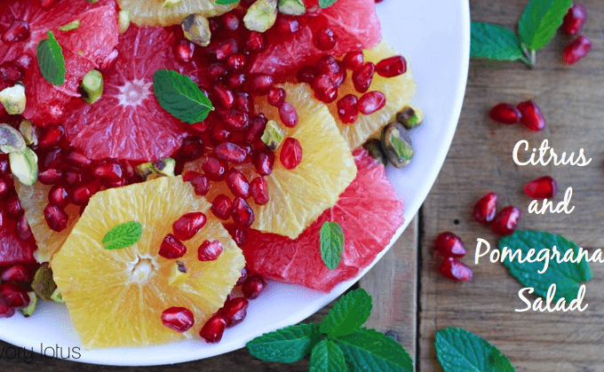 Citrus and Pomegranate Salad | www.savorylotus.com