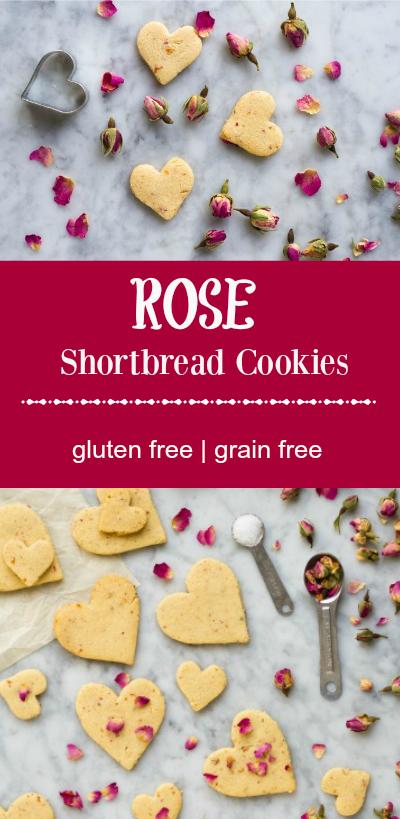 Rose Shortbread Cookies (grain free) --- www.savorylotus.com