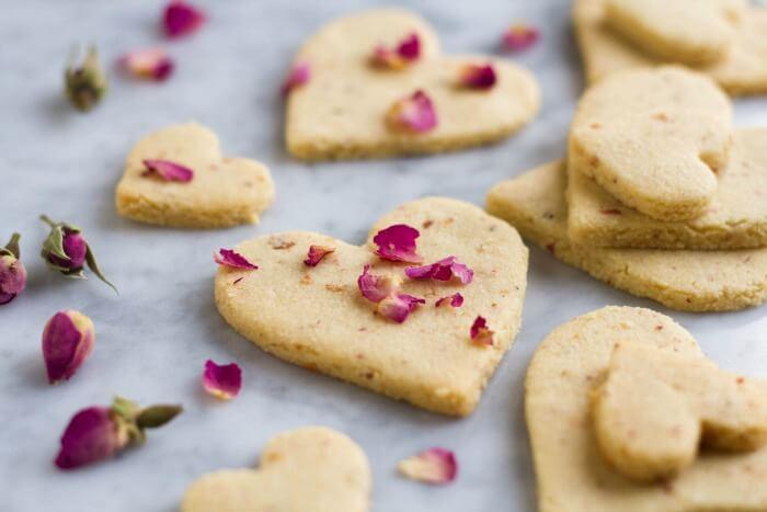 Rose Shortbread Cookies (grain free) - - www.savorylotus.com