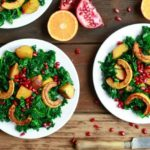 Wilted Kale Salad with Golden Beets and Winter Squash www.savorylotus.com