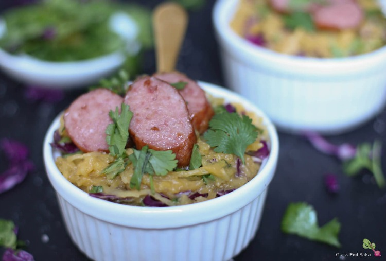 Creamy Teriyaki Spaghetti Squash Salad - www.savorylotus.com