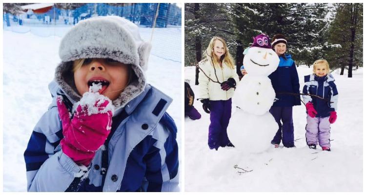 Tahoe snow man