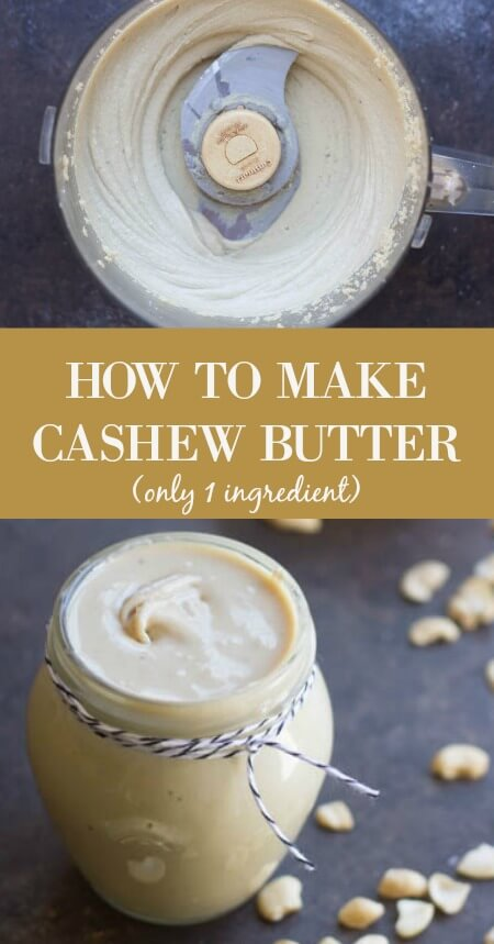 How to Make Cashew Butter - www.savorylous.com