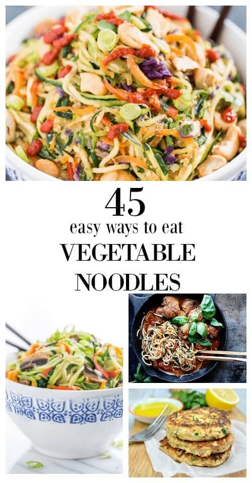 45 Easy Ways to Eat Vegetable Noodles (gluten free) - www.savorylotus.com