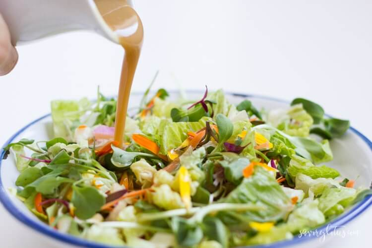 Healthy Honey Mustard Dressing | www.savorylotus.com