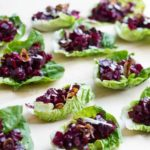 Beet Tartare Lettuce Cups (with crispy shallots) | www.savorylotus.com
