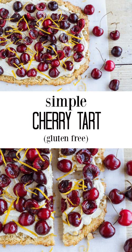 Simple Cherry Tart (gluten free) - www.savorylotus.com