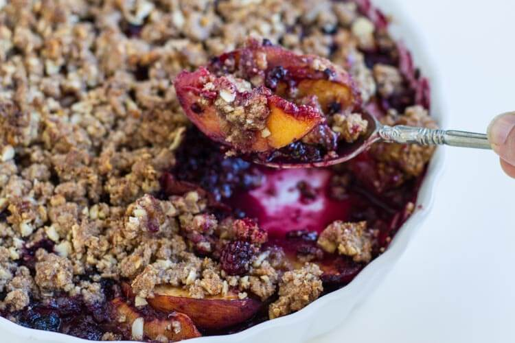 Simple Blackberry Peach Crisp (gluten free) ** *www.savorylotus.com